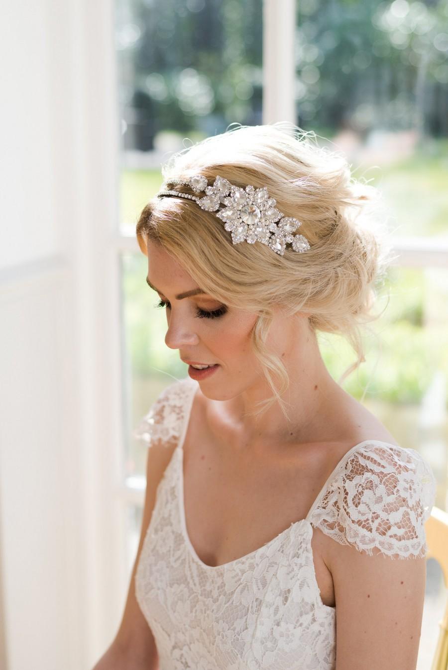 Wedding - Gatsby bridal headpiece, 1920s wedding hair accessory, 1920s bridal headpiece, Gatsby wedding hair accessory, 1920s wedding headpiece