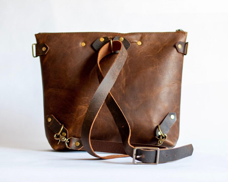 Mariage - Leather Backpack Purse