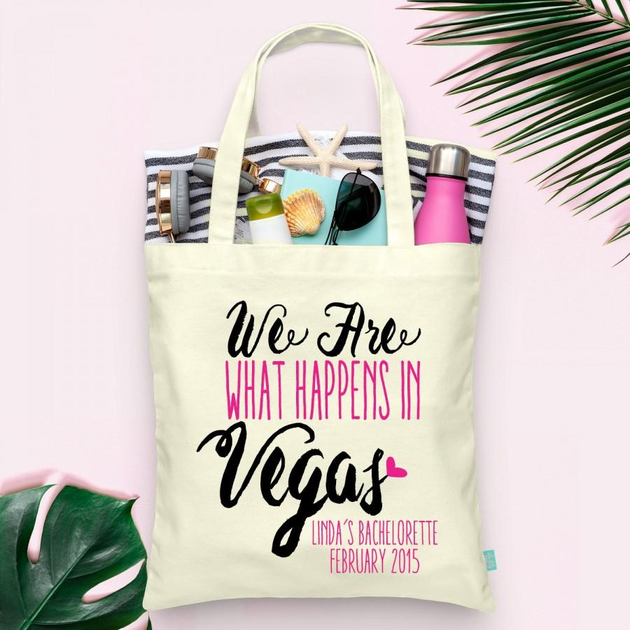 Mariage - We Are What Happens in Vegas Bachelorette Party Getaway Totes- Wedding Welcome Tote Bag