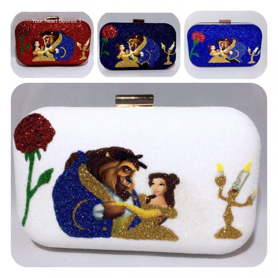 Mariage - beauty and the beast clutch bag bridal bag Christmas purse