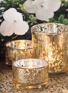 Свадьба - 24 pack Mercury candle holders, choose your size and color, gold mercury votives, silver votives