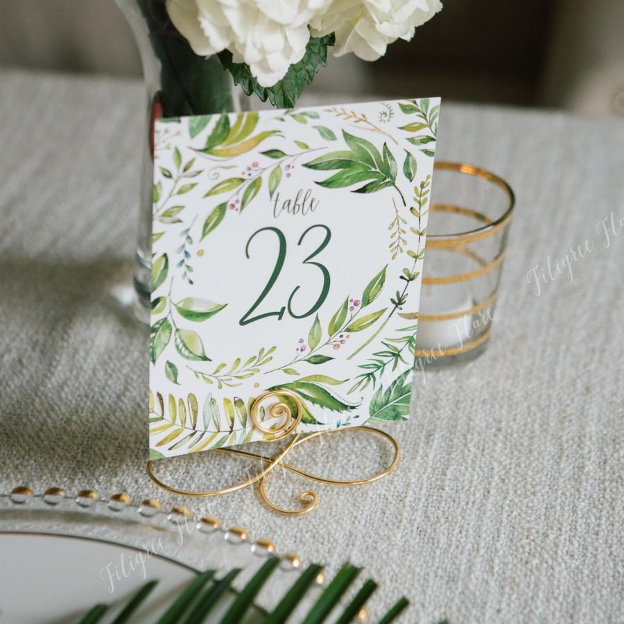 Свадьба - Set of 19 Large Gold wedding table number card holders, Menu stands, Number card stands