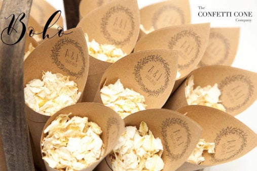 Wedding - Boho wedding Confetti cones