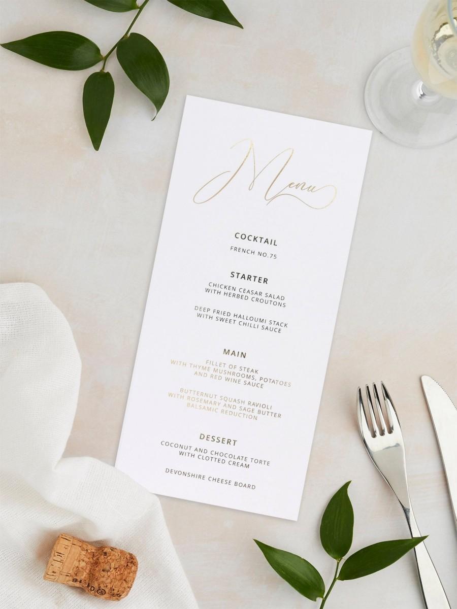 Hochzeit - Wedding Menu Cards