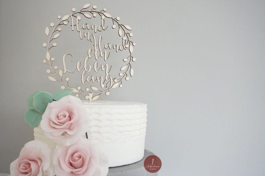 "Hochzeit - Wedding Cake Topper ""Hand in Hand"" - Cake Topper - Cake Topper"