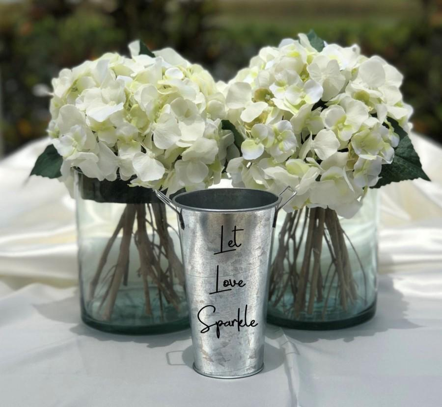 Свадьба - Sparklers Holder Tin Pail ~ Let Love Sparkle ~ Wedding Decor - Celebrations - Fourth of July - Choose Your Colors - Choose the Size