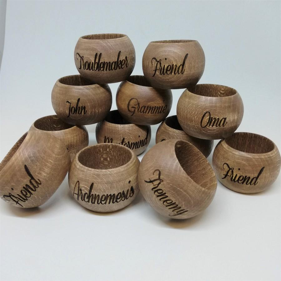 Wedding - Personalized engraved Wooden Napkin rings / wedding accessories / home decor / kitchen decor / housewarming gift / personalized gift idea
