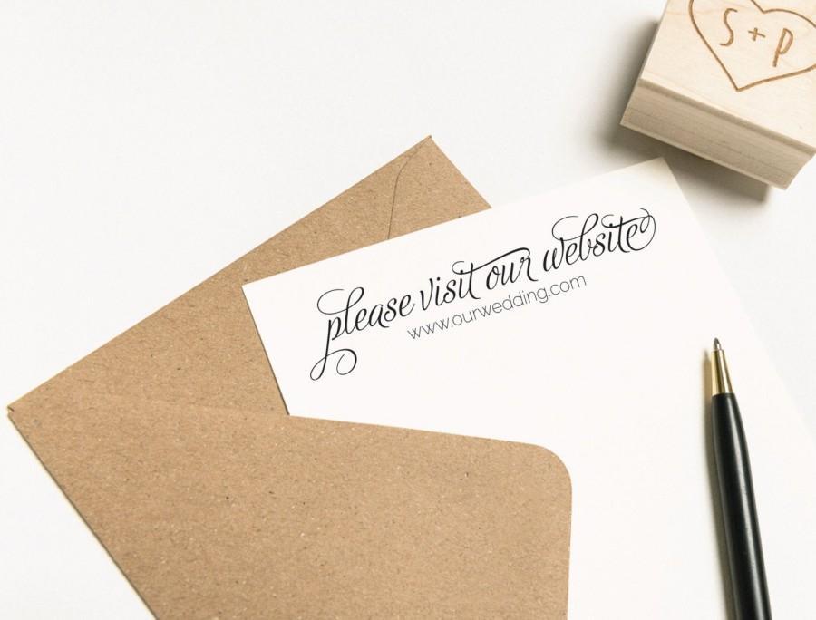 زفاف - Please Visit Our Website Stamp, Wedding Website Stamp, Invitation Stamp, Personalized Website Stamp, Business Card Stamp (SFAVS148 - S.1)
