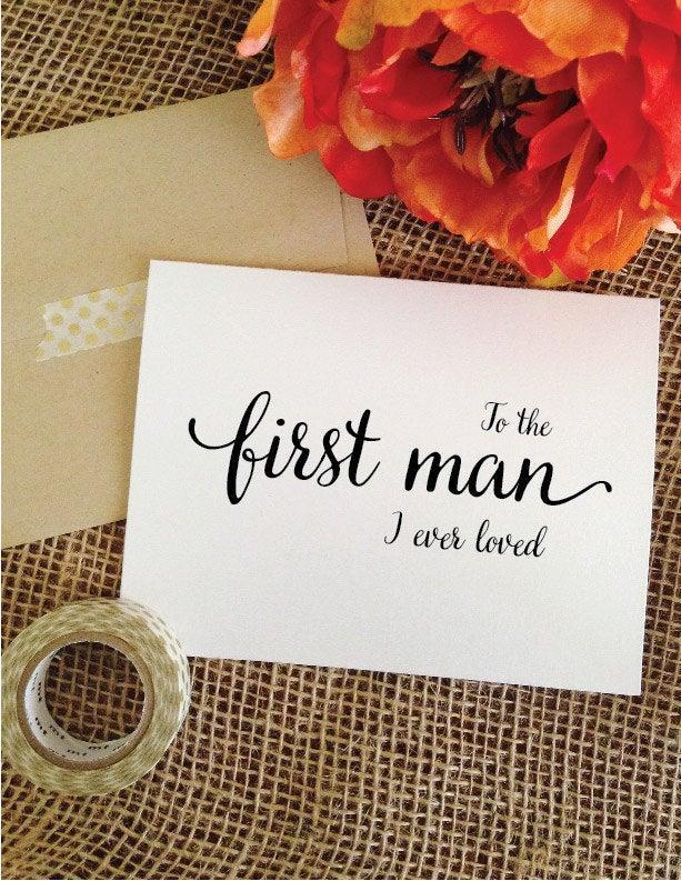 زفاف - Father of the bride gift from bride to the first man I ever loved card dad wedding gift father of the bride card dad wedding day card to dad