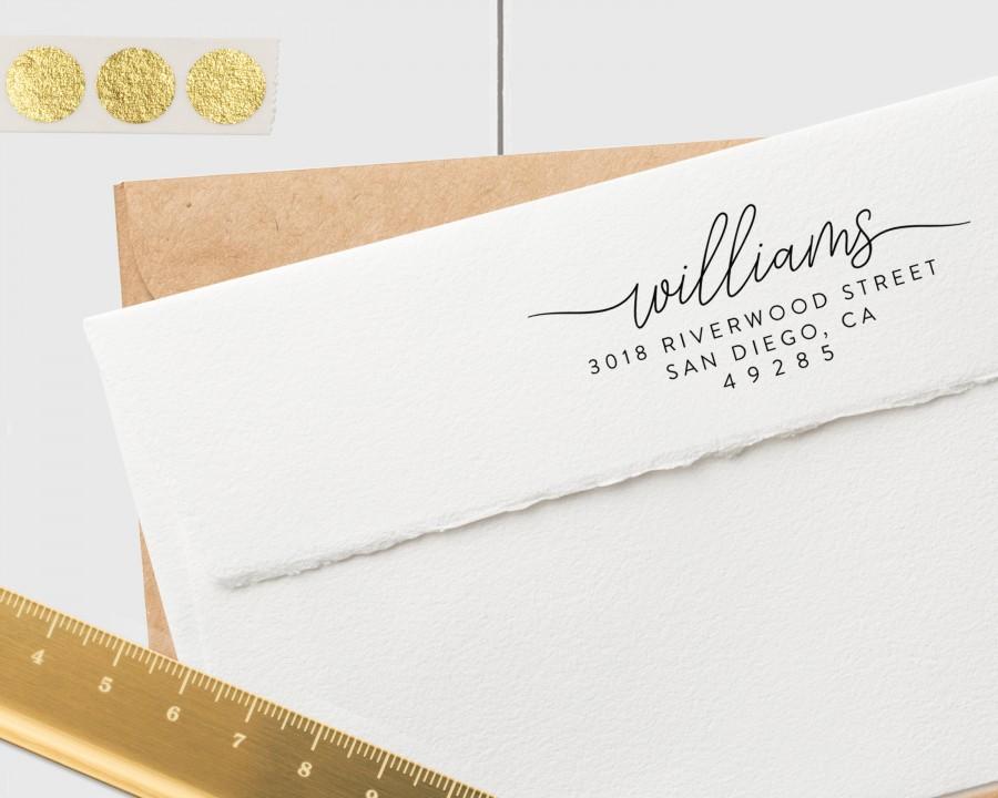 Hochzeit - CUSTOM ADDRESS STAMP, Modern Address Stamp, Personalized Address Stamp, Self Inking Address Stamp, Wedding Address Stamp, Address Stamp