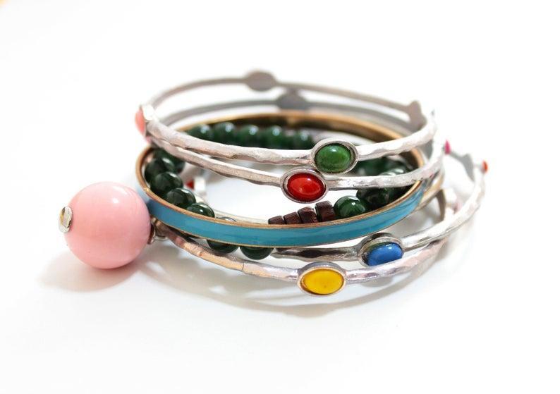 زفاف - Boho Jewelry Stacking Bracelets, Boho Cuff Bracelet, Silver Boho Bracelet Gifts for Women, Boho Jewelry Gift, Boho Stacking Cuff Bracelet