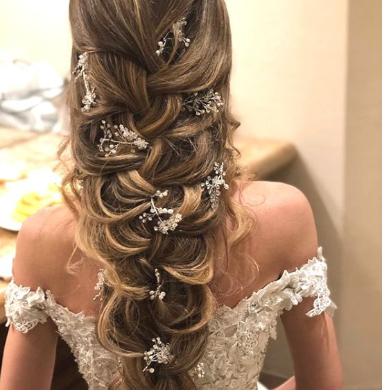 Hochzeit - Crystal and Pearl hair vine Extra Long Hair Vine Bridal Hair Vine Wedding Hair Vine Crystal Hair Piece Bridal Jewelry Hair Vine Pearl vine