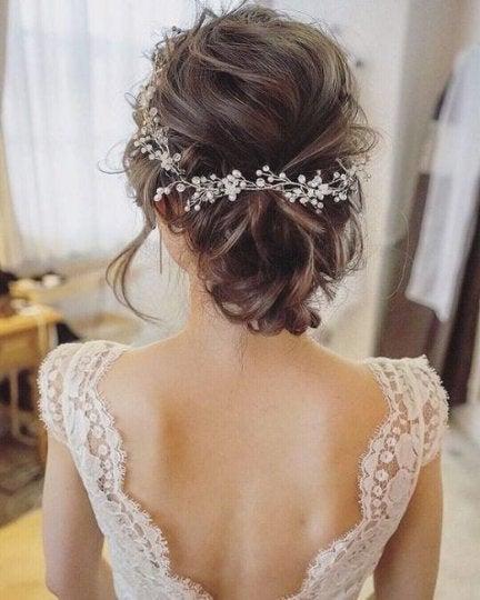 "Mariage - Extra Long 20-80"" Crystal Bridal Hair Vine ARIEL Long Boho Hair Vine Wedding Hair Wreath Bridal Headpiece Wedding Jewelry Pearl Vine Bridal"