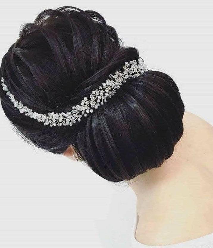 Mariage - Bridal headpiece, Bridal Hair Vine, Crystal Bridal Comb, Bridal Hair Accessory, Crystal Wedding Headpiece, Wedding Halo, Wedding Hair Vine