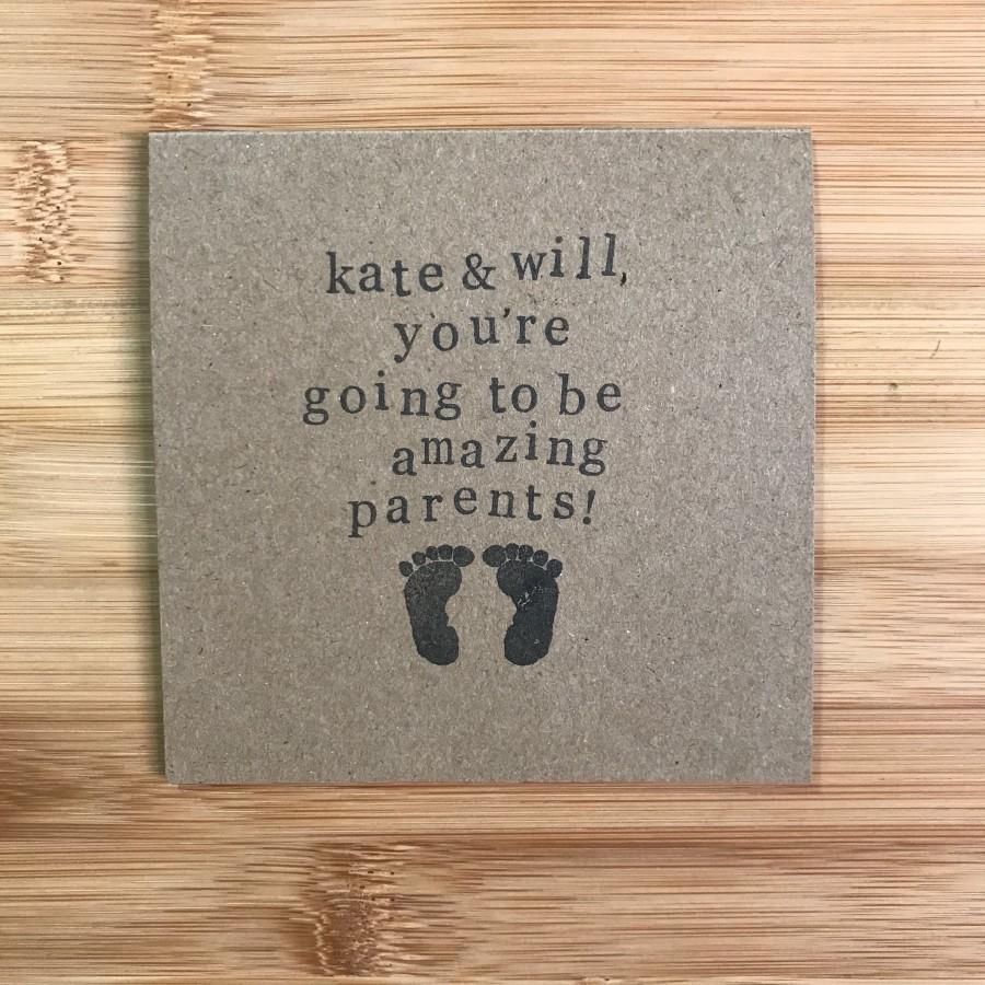 Wedding - Personalised new baby/ pregnancy congratulations card - You're going to be amazing parents