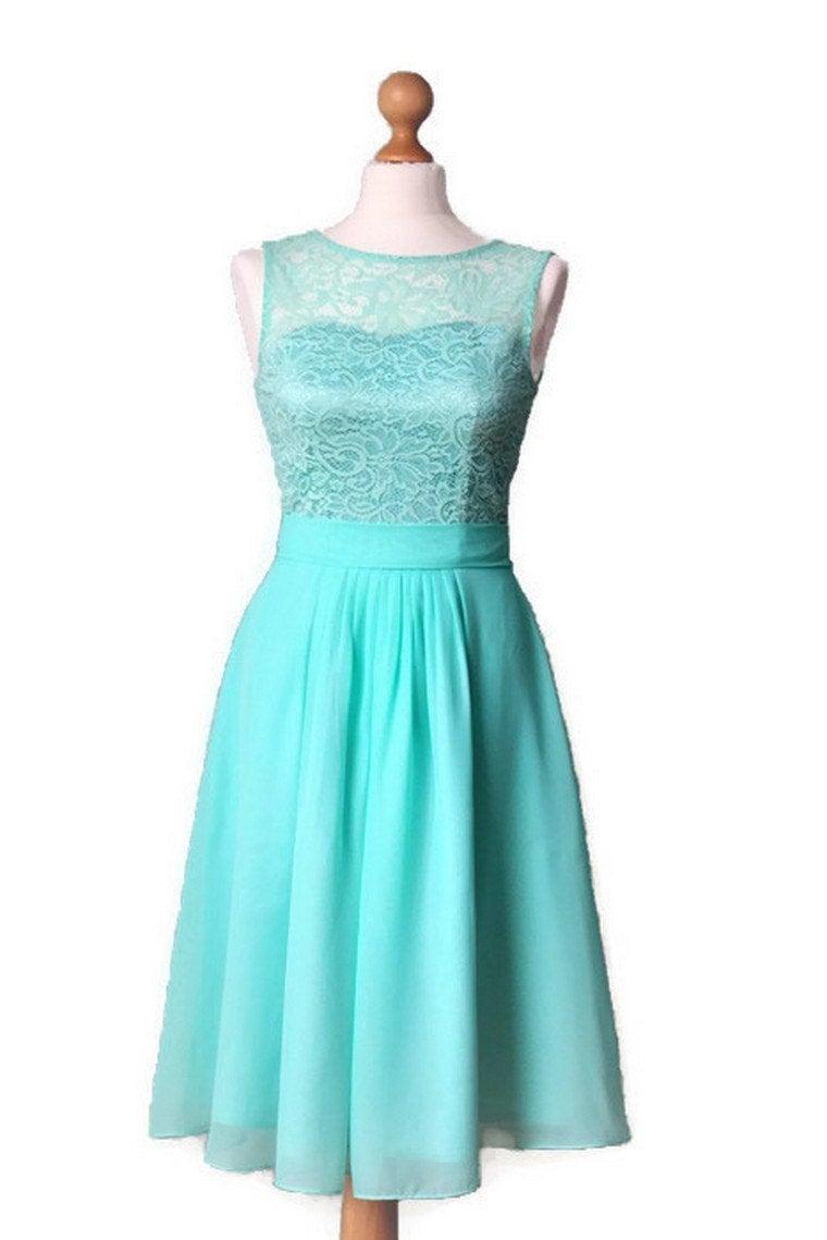 Wedding - Mint bridesmaid dress Short bridesmaid dress Short mint dress Lace mint dress Mint prom dress Mint wedding Lace prom dress  Mint  dress