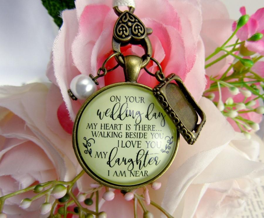زفاف - Bridal Bouquet Charm On Your Wedding Day Remembrance Of Mom Or Dad For Daughter Memorial Photo Pendant In Loving Memory Of Family Jewelry