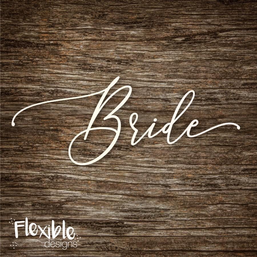 Hochzeit - Bride Iron-On Transfer