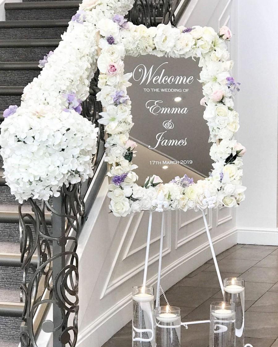 Mariage - Vinyl Welcome Sign, Wedding Welcome Sign, DIY Welcome Sign, Vinyl Lettering, Mirror Welcome Sign, Custom Welcome, Welcome to our Wedding