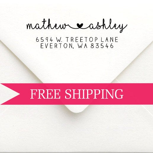 Wedding - Custom Return Address Stamp-Self Inking-Personalized Stamp-Wedding Gift-Client Gift-Wood Stamp-House Warming-Save the Date-Invitation Stamp