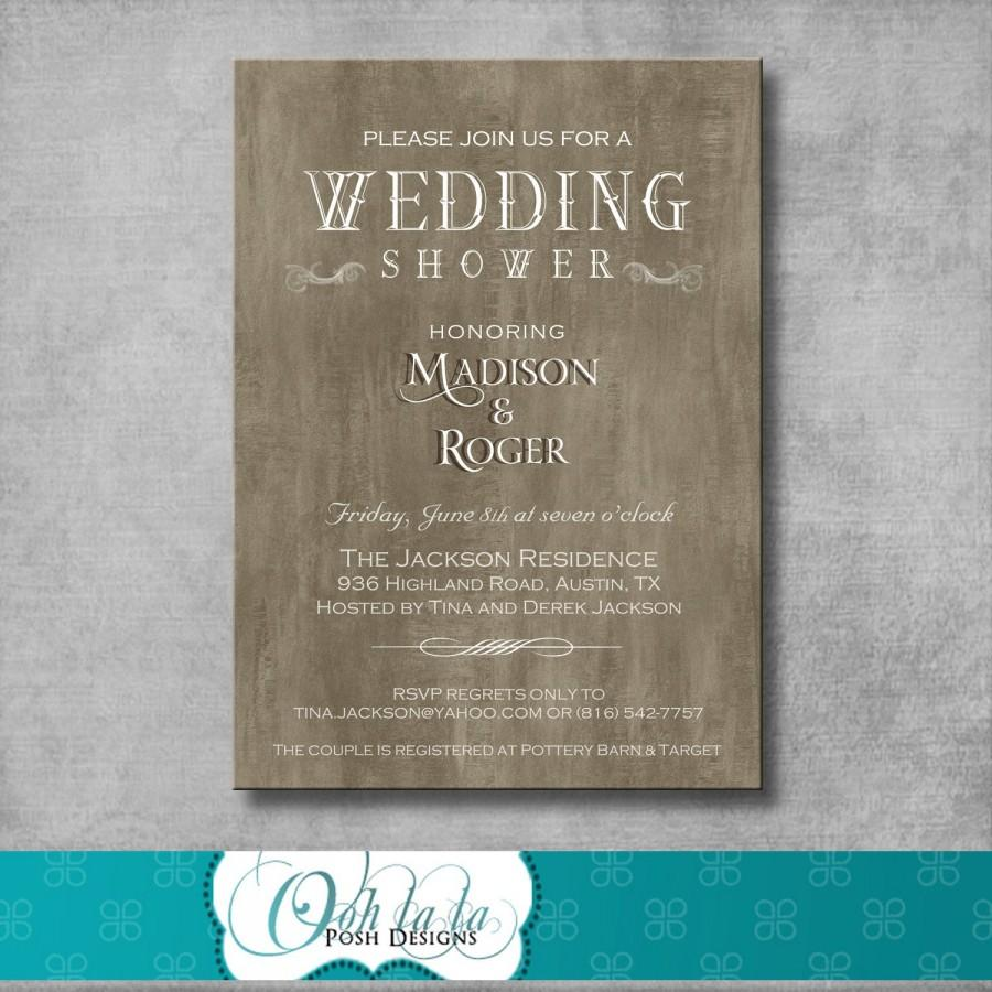 Mariage - Rustic Elegant Wedding Shower Invitation - DIY - Printable - Customizable - Country - Digital - Bridal Shower Invite - Engagement Party