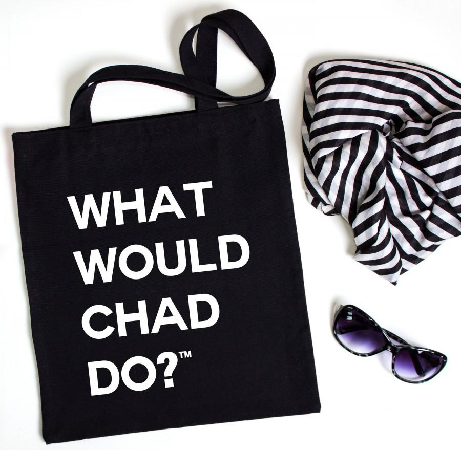 Mariage - What Would Chad Do?™  Tote Cotton Bag, Swag Bag, Gift Bag, Eco-friendly Tote, Shopping Tote, Travel Tote