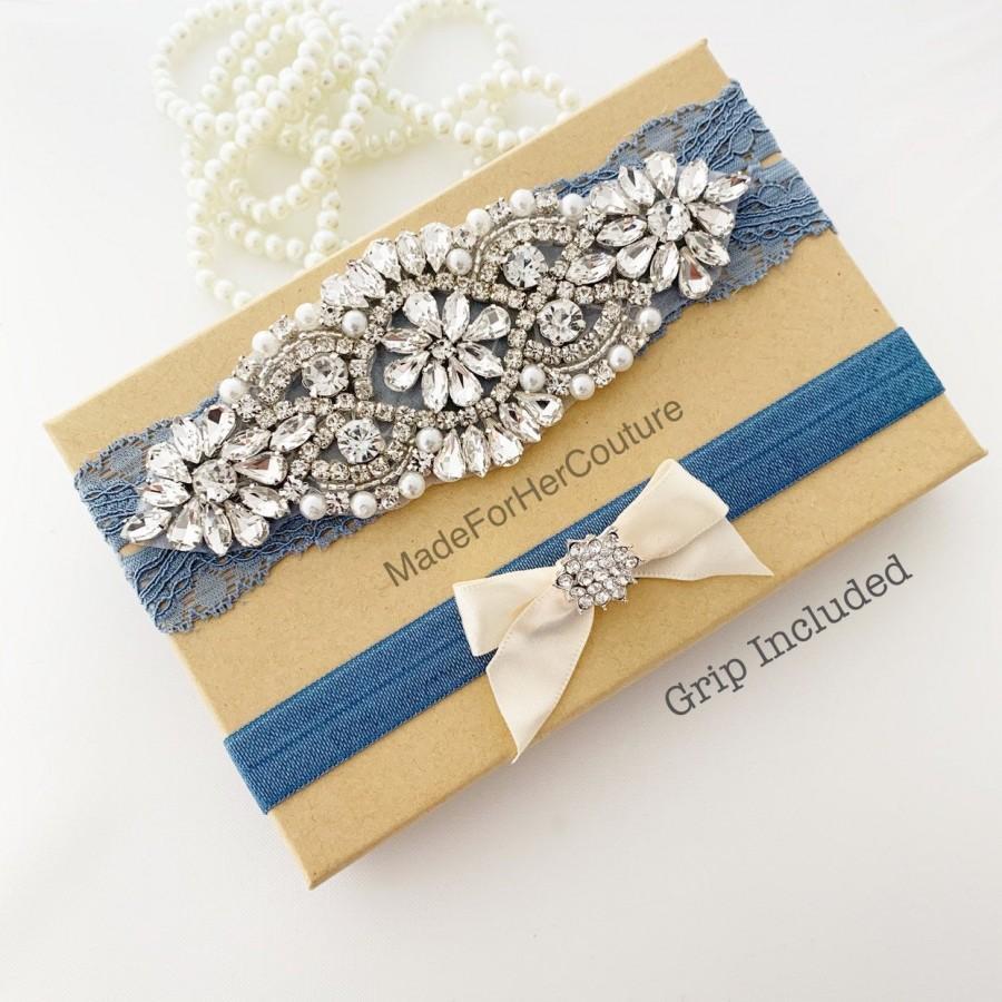 Wedding - Antique Blue Wedding Garter, Bridal Garter Set, Garters For Wedding, Wedding garters, Garters