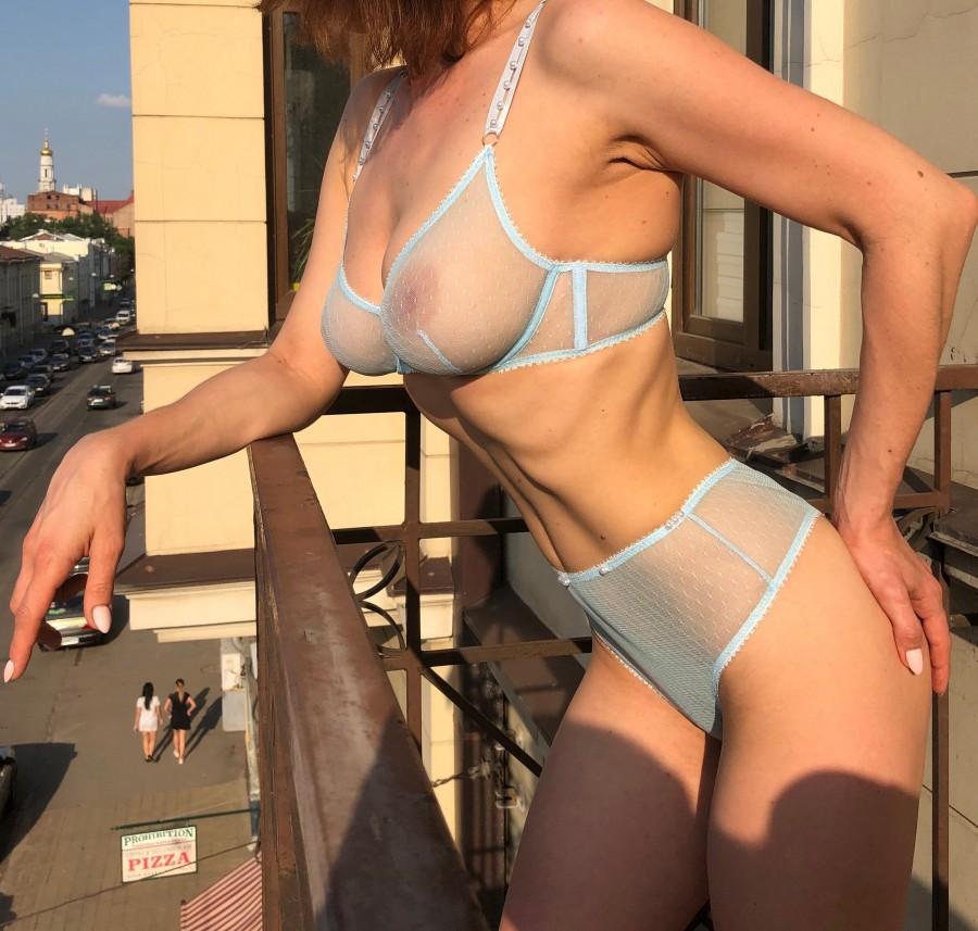 Mariage - Blue lingerie, See through lingerie, Mesh underwear, Custom lingerie, Sheer bra, Pink sexy lingerie, Underwire bra set, Women just do it