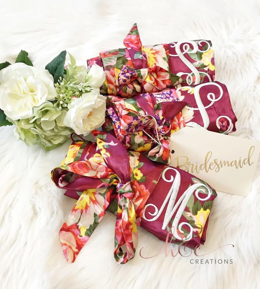 Wedding - Satin Bridal Robe, Bridesmaid Robes, Robe, Bridal Robe, Bride Robe, Bridal Party Robes, Bridesmaid Gifts, Satin Robe