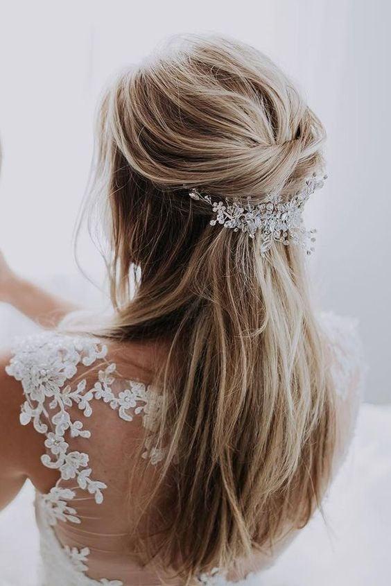 Wedding - Bridal Pearl Hair vine Comb DAFNE Wedding Hair Comb vine, Hair Chain Bridal hair jewellery Wedding Hair Vine,  Bridal Hairpiece Comb