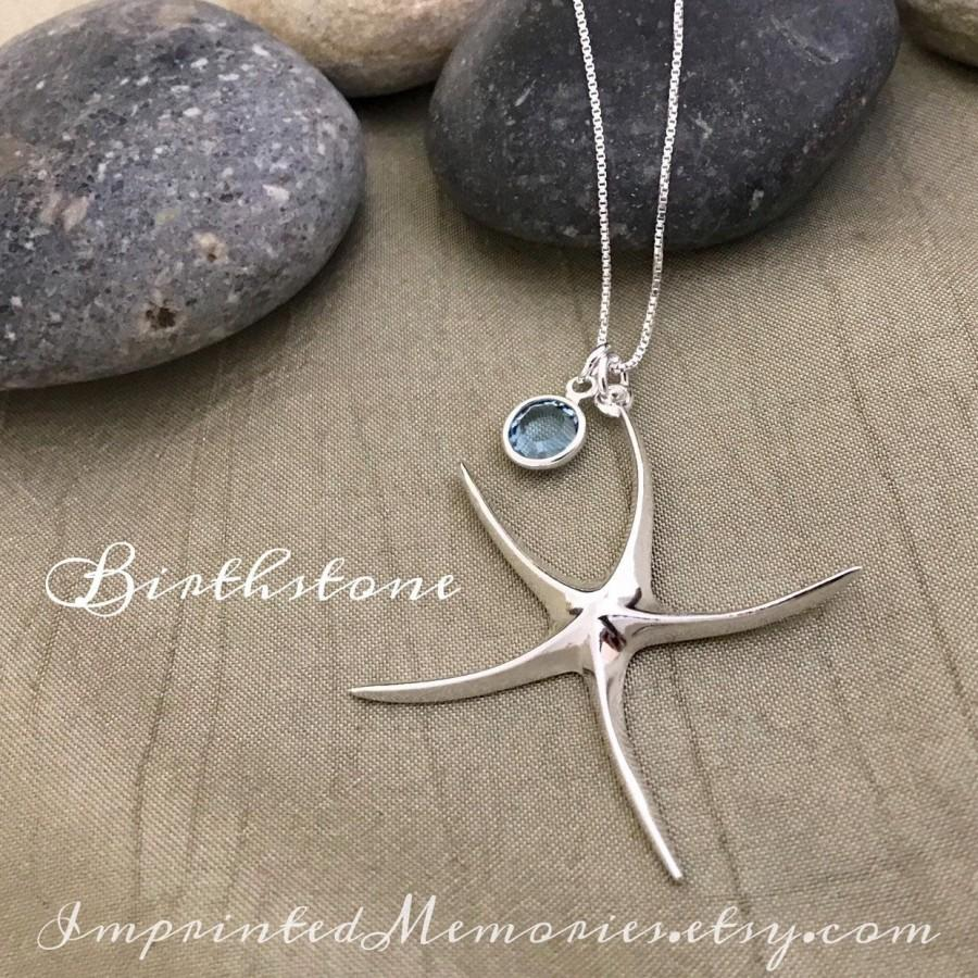 Bridesmaid necklace Samantha the starfish Bridal necklace Sterling Silver Starfish necklace Beach charm gift for her. Ocean inspired