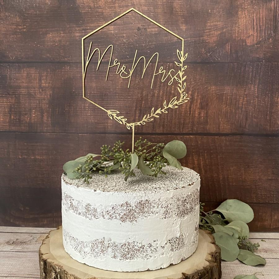 Mariage - Mr Mrs Wedding Cake Topper, Floral Wedding Cake Toppers, Custom Cake Topper, wood, Birthday Bridal Anniversary Bachelorette Rustic, mr mrs