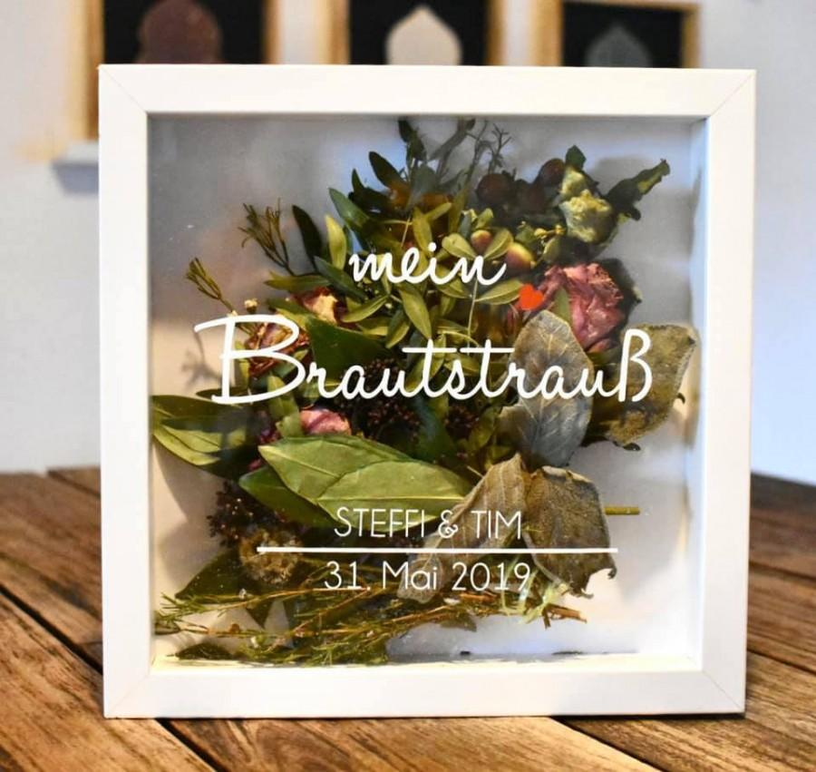 Wedding - Picture frame for the bridal bouquet *forever Us* with personal touch *various fonts*