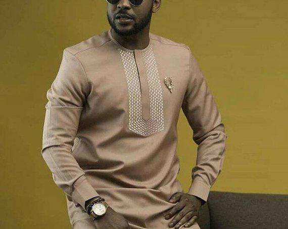 Wedding - African men's shirt, African men's clothing, wedding suit, dashiki, vêtement africain, chemise et pantalon, African attire, prom dress