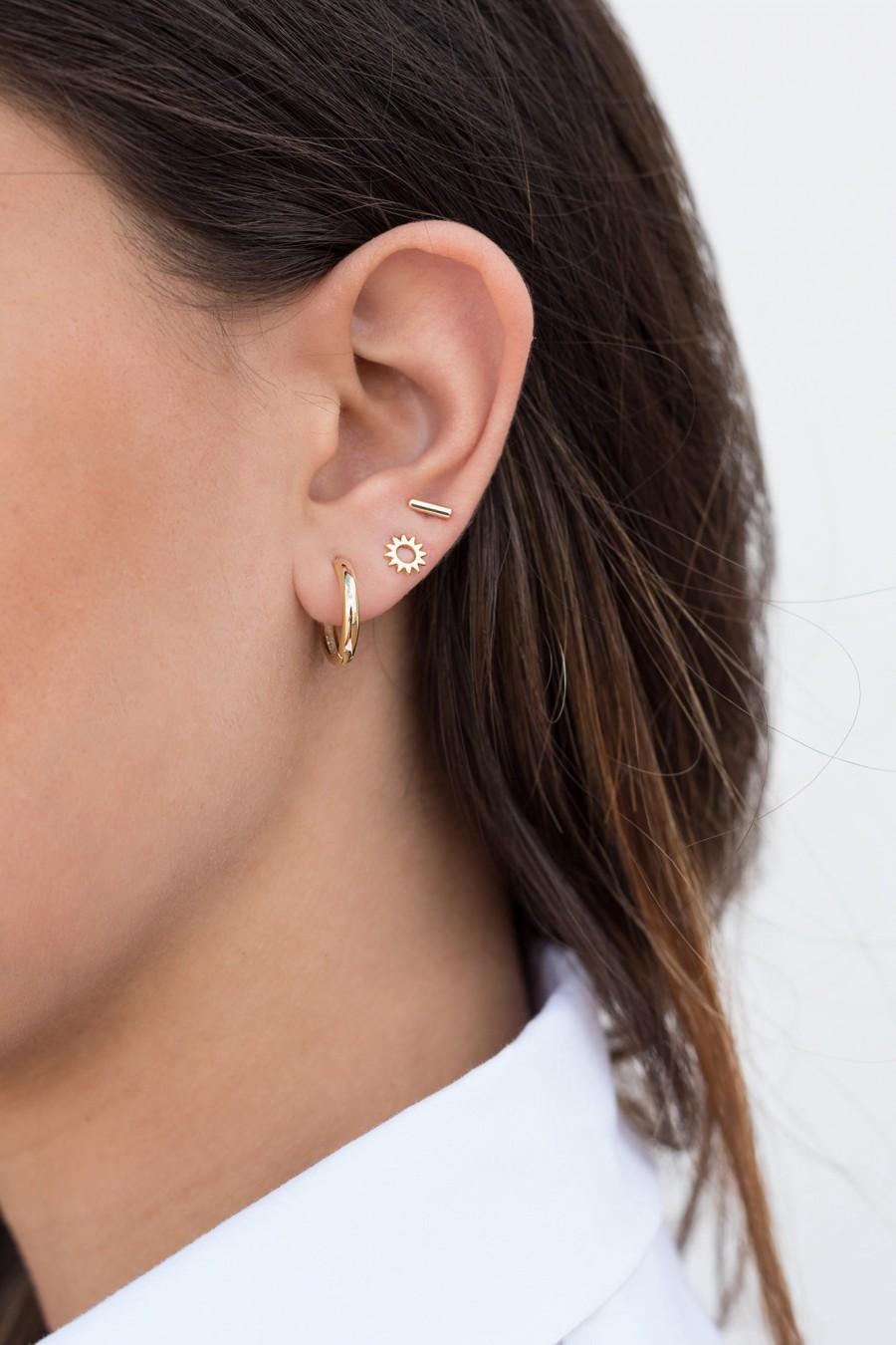 Свадьба - Sun stud earrings, Sun-shaped earrings, Small earrings, Dainty stud earrings, Trendy earrings, Minimalist earrings, Mini earrings, Tiny stud