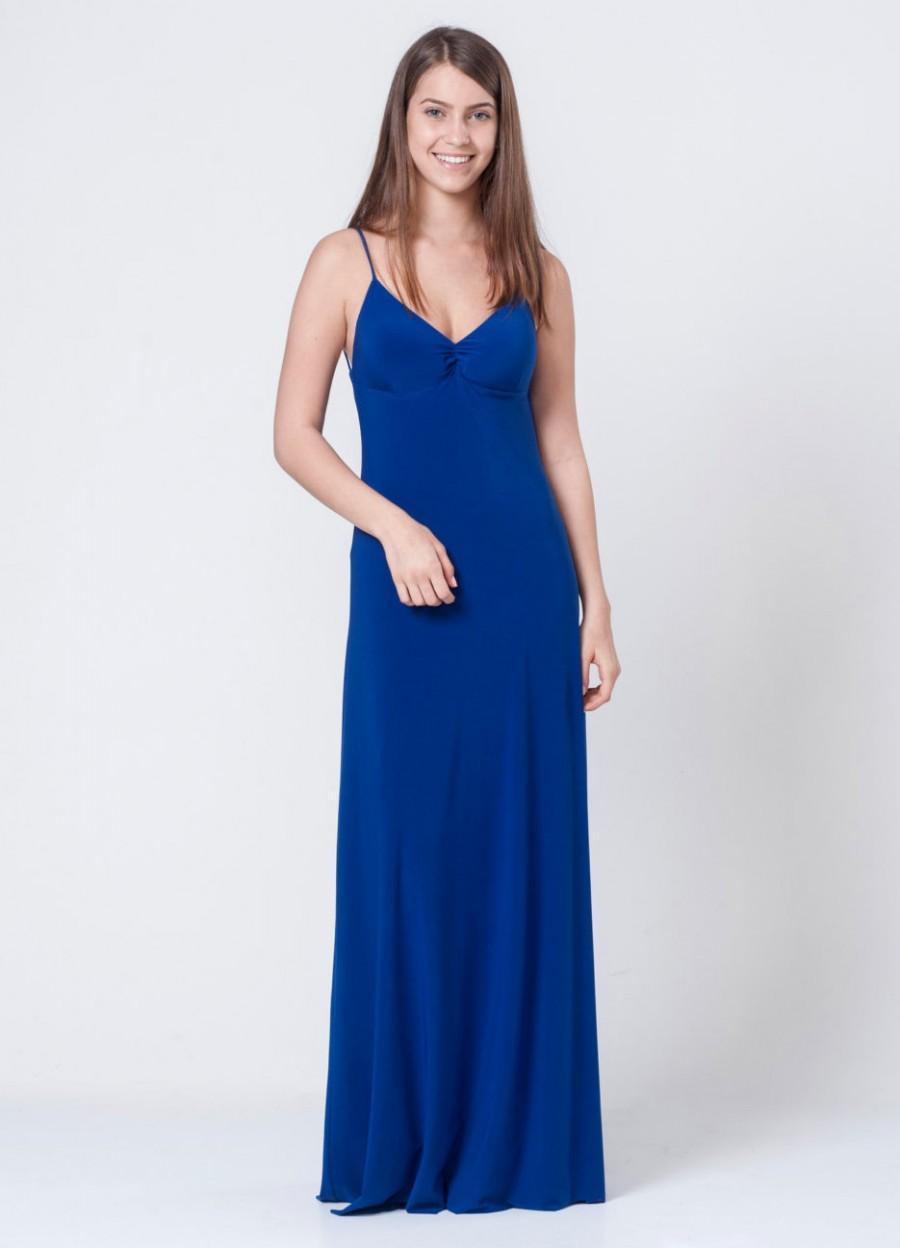 Wedding - Royal Blue Bridesmaid Dress, Evening Dress, Blue Dress, Cocktail Dress, Long Prom Dress, Backless Dress, Open Back Dress, Cobalt Dress