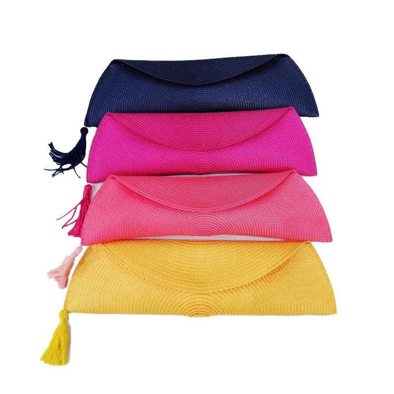 زفاف - Envelope straw clutch bags, Evening wedding purses, BS-004