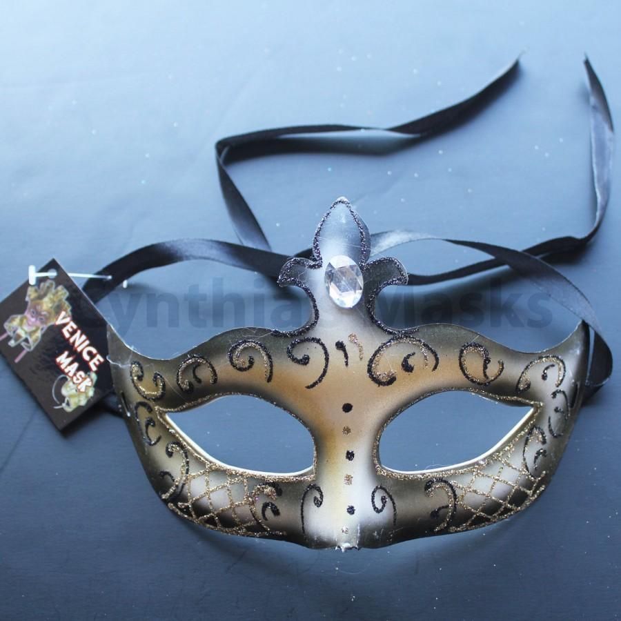 Wedding - Black Pretty Princess Venetian Masquerade Mask for wedding dancing parties home decor, 6I2A,  SKU: 6D41