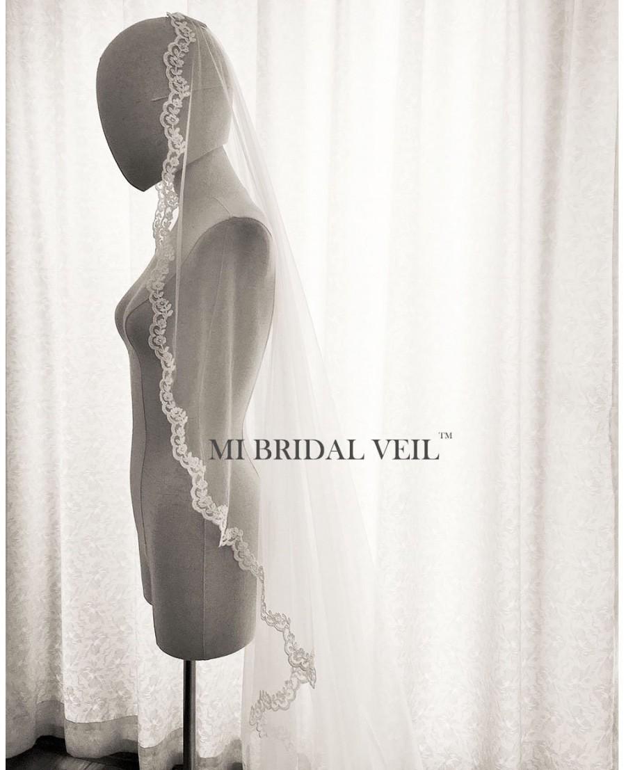 زفاف - Mantilla Veil, Small Lace Mantilla Veil, Cathedral Lace Veil, Lace Wedding Veil, Bridal Veil Cathedral, Rose Lace Veil, Mi Bridal Veil