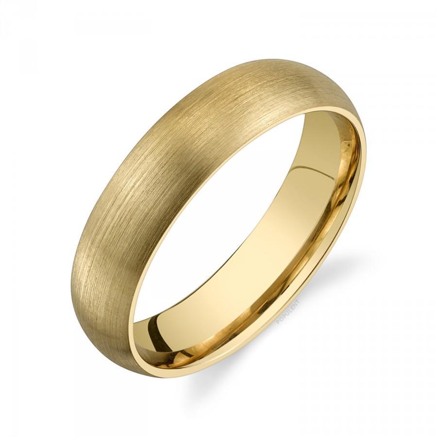 زفاف - 14k Yellow Gold Band (5mm)