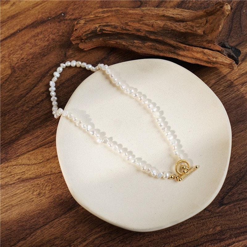 زفاف - Genuine Baroque Pearl OT Choker, Seed Beads Pearl Choker, Baroque Pearl Necklace, Genuine Fresh Water Pearl Necklace, Real Fresh Water Pearl
