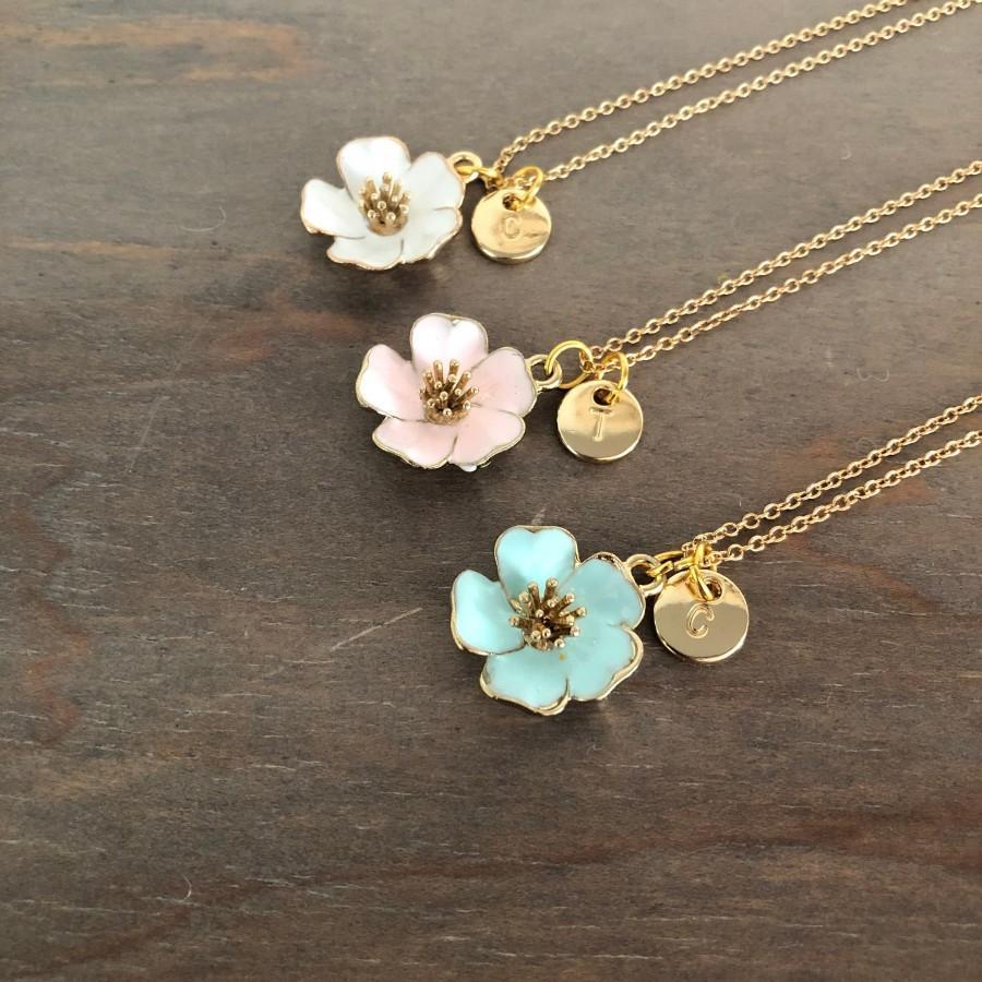 زفاف - Flower Girl Gift, Personalized Flower Girl Necklace, Junior Bridesmaid Necklace Gift, Children's Necklace, Flower Girl Proposal