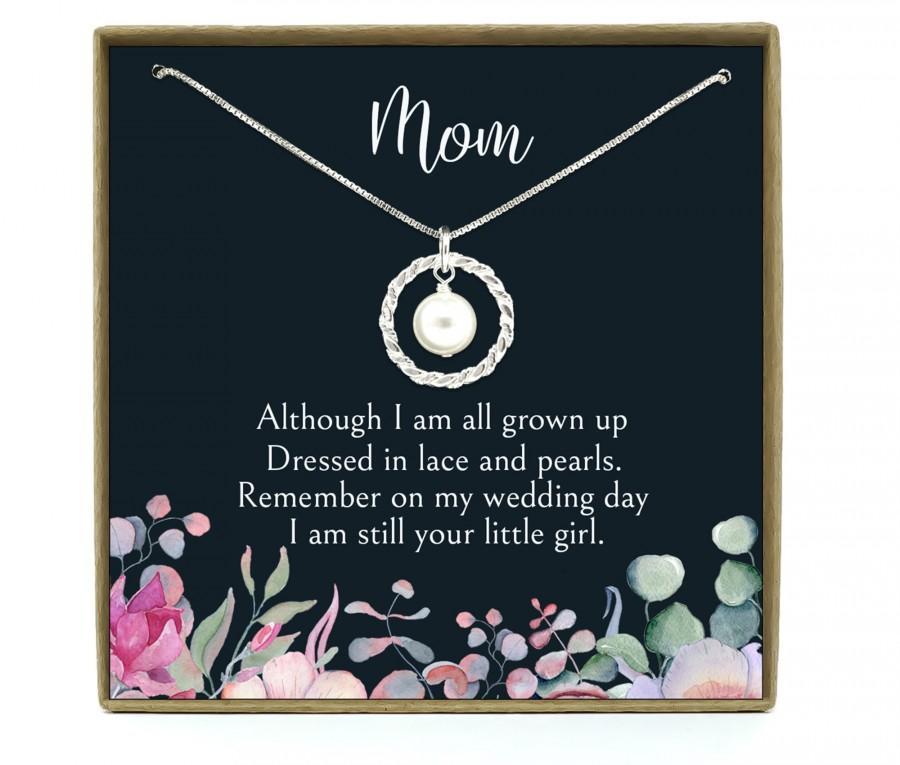 زفاف - Wedding Gift for Mom, Mom Wedding gift from Bride, Mother of the Bride Gift from Daughter, Parents Wedding Gift, Gift for Mom, Sterling