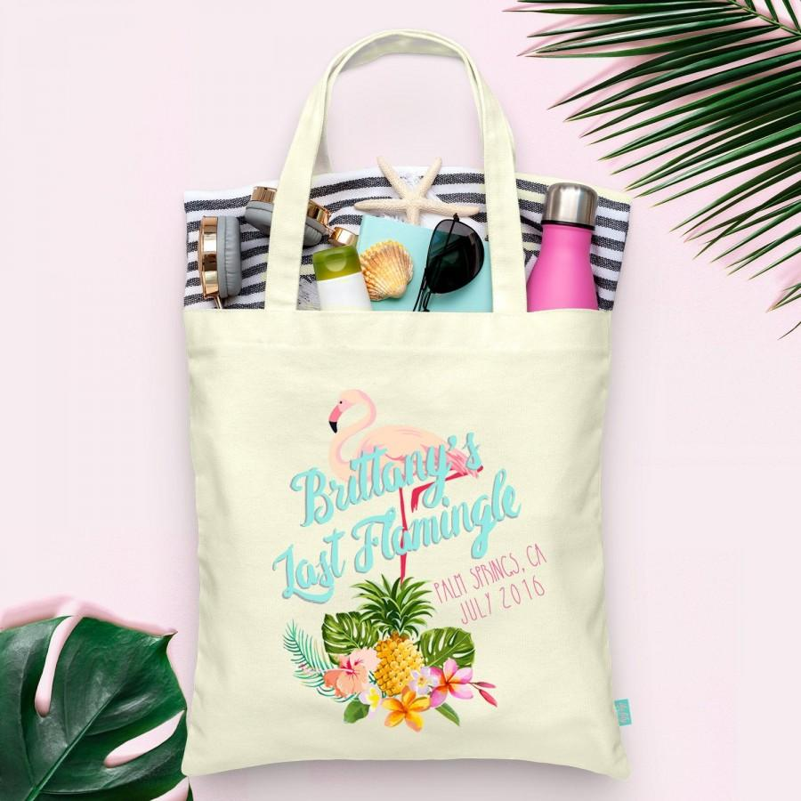 Mariage - Last Flamingle Flamingo Palm Springs Bachelorette Party Totes- Wedding Welcome Tote Bag