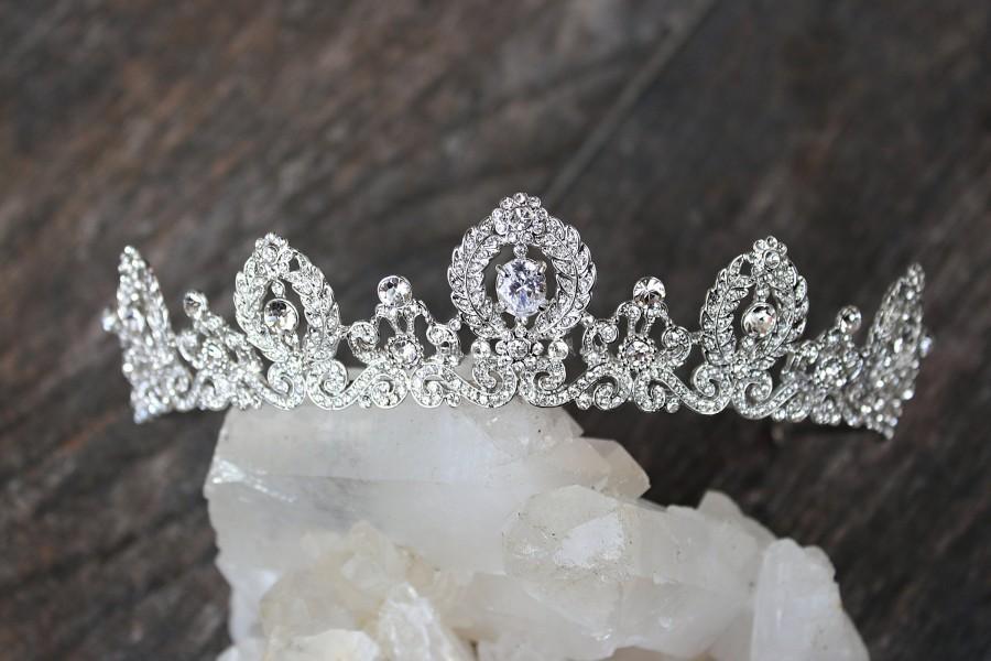 Mariage - Bridal Tiara LAUREL Wedding Tiara Swarovski Bridal Tiara Crystal Wedding Crown Rhinestone Tiara Wedding Tiara Diamante Crown