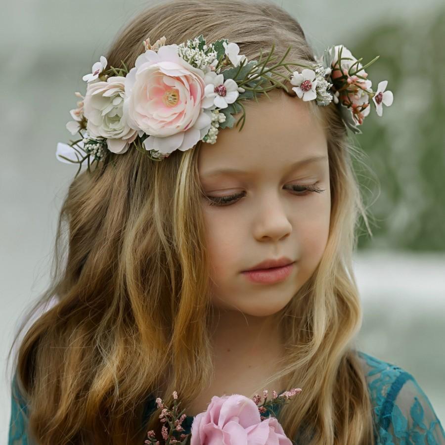 Wedding - Spring  Flower Crown, Flower Tiara, Floral crown, Flower Halo, Bohemian flower crown, Bridal Crown, Flower girl Crown, Floral Hair Wreath