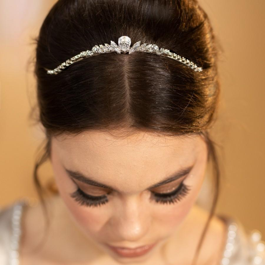 Wedding - Wedding Crown, Wedding Tiara, Bridal Hair Accessories, Silver Tiara, Bridal Headpiece, Bridal Tiara, Swarovski Crystal Tiara, Crystal Tiara