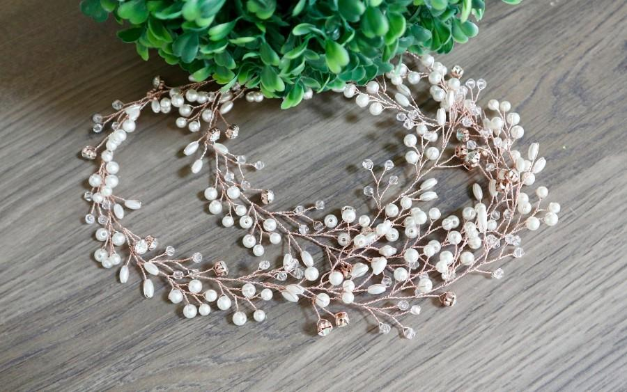 Hochzeit - Bridal Hair vine Wedding Hair vine Bridal hair accessories Wedding Hair Accessories Rose Gold Bridal Hair Vine Silver Bridal Hair piece