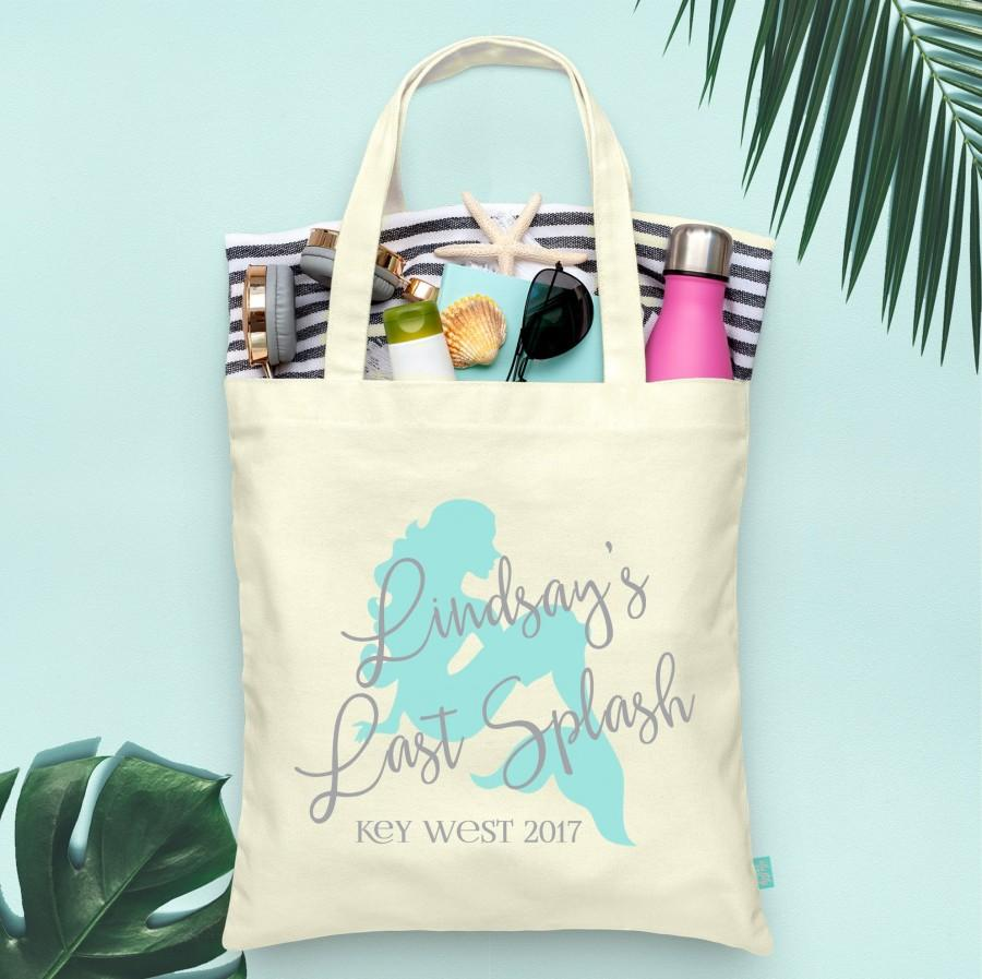 Свадьба - Last Splash Mermaid Theme Bachelorette Party Totes- Wedding Welcome Tote Bag