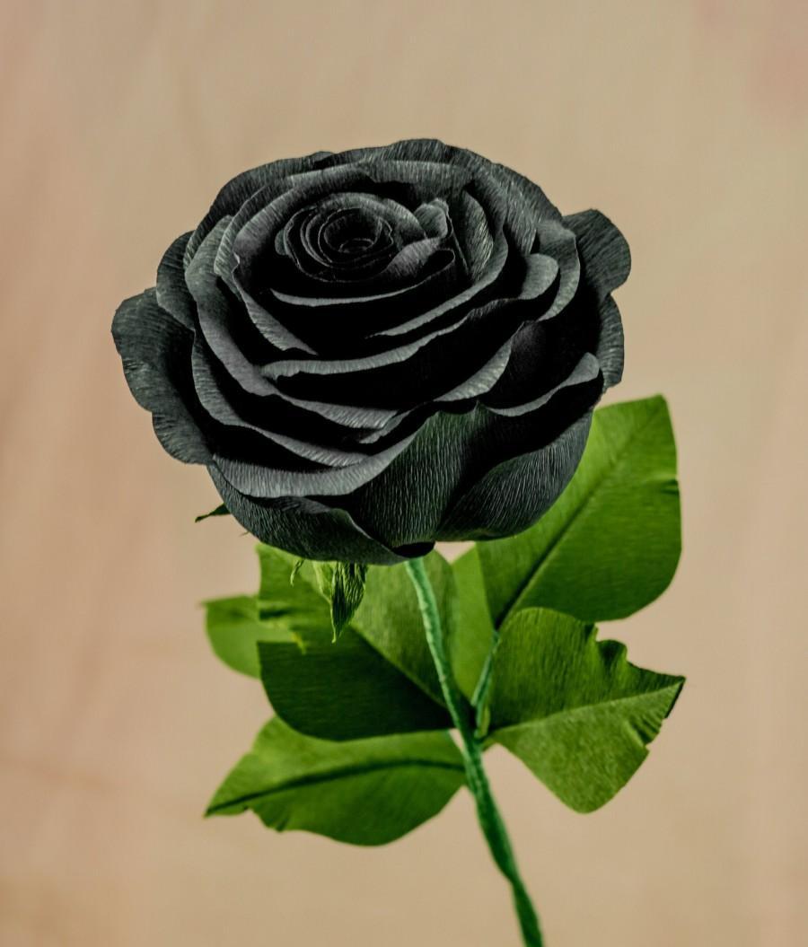 Свадьба - Black Paper Rose (Life Size)